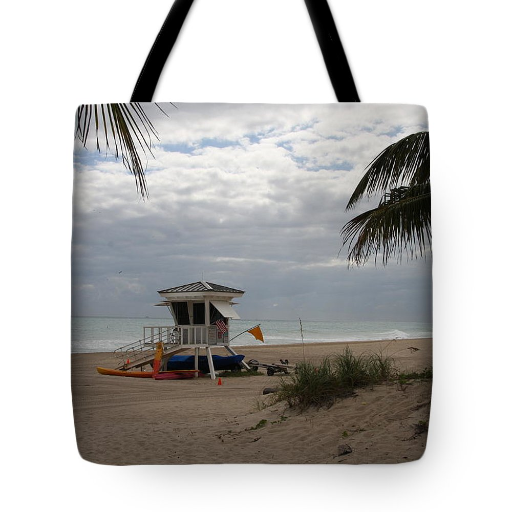 Baywatch Tote Bag featuring the photograph Guarded Area by Christiane Schulze Art And Photography