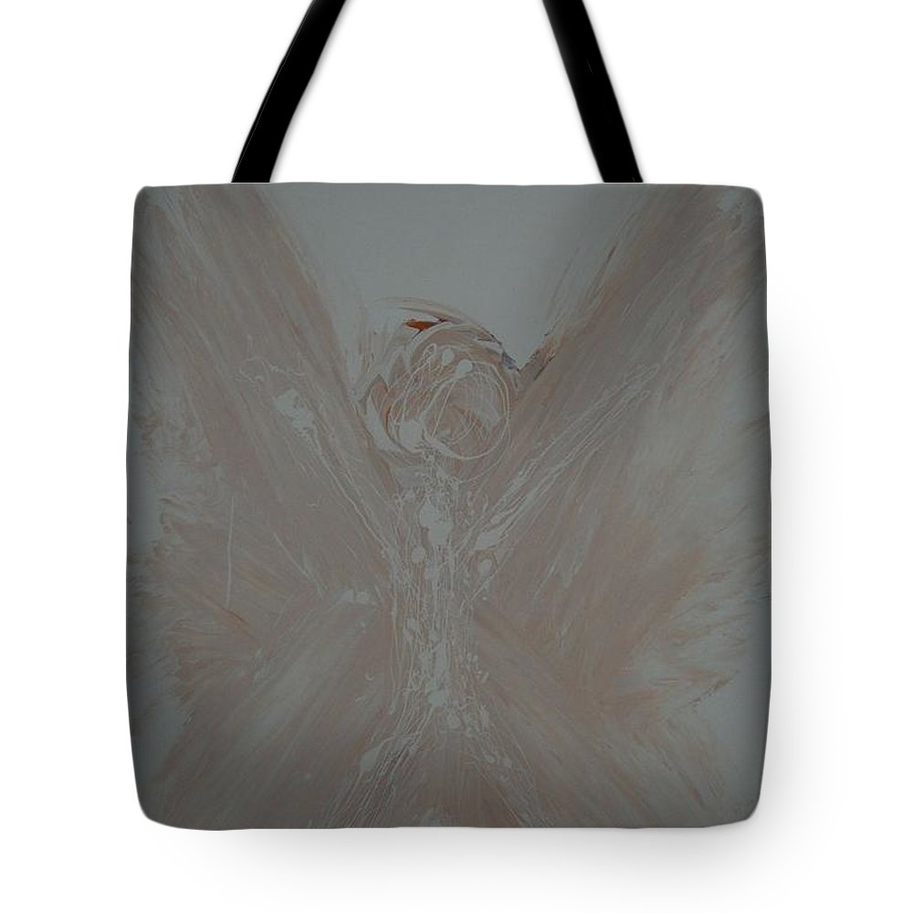 Guardian Tote Bag featuring the painting Guardian Angel by Sirenes