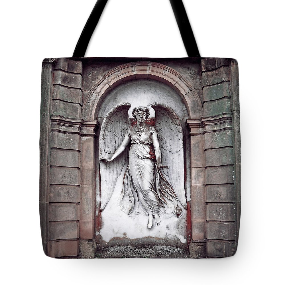 Stone Tote Bag featuring the photograph Guardian by Julia Raddatz