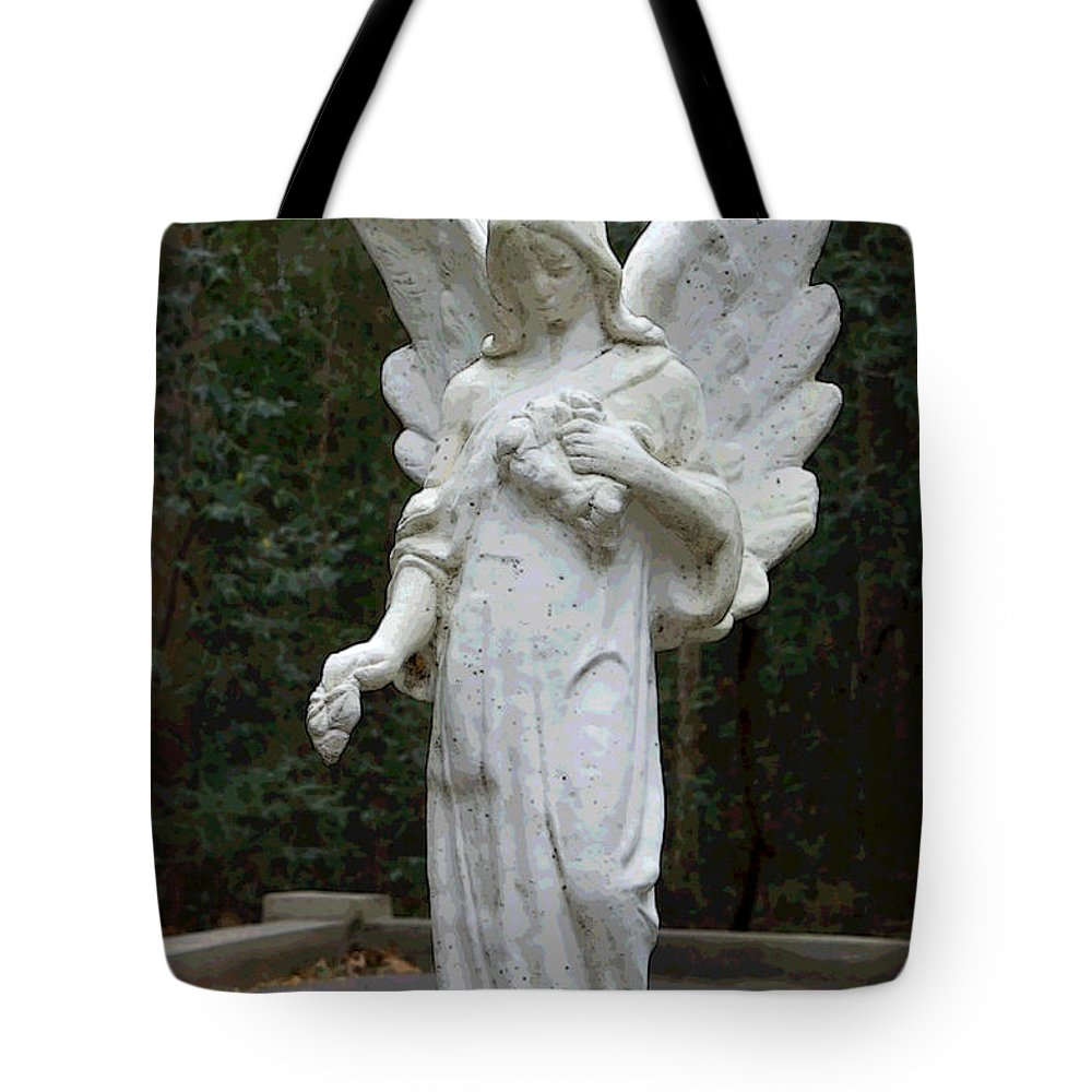 Angel Tote Bag featuring the photograph Guardian by Suzanne Gaff