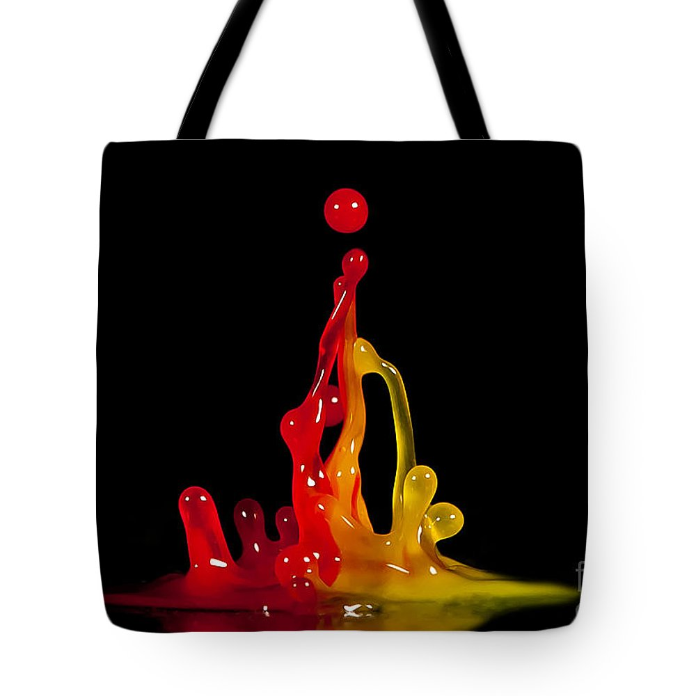Water Tote Bag featuring the photograph Gummy Drops by Anthony Sacco