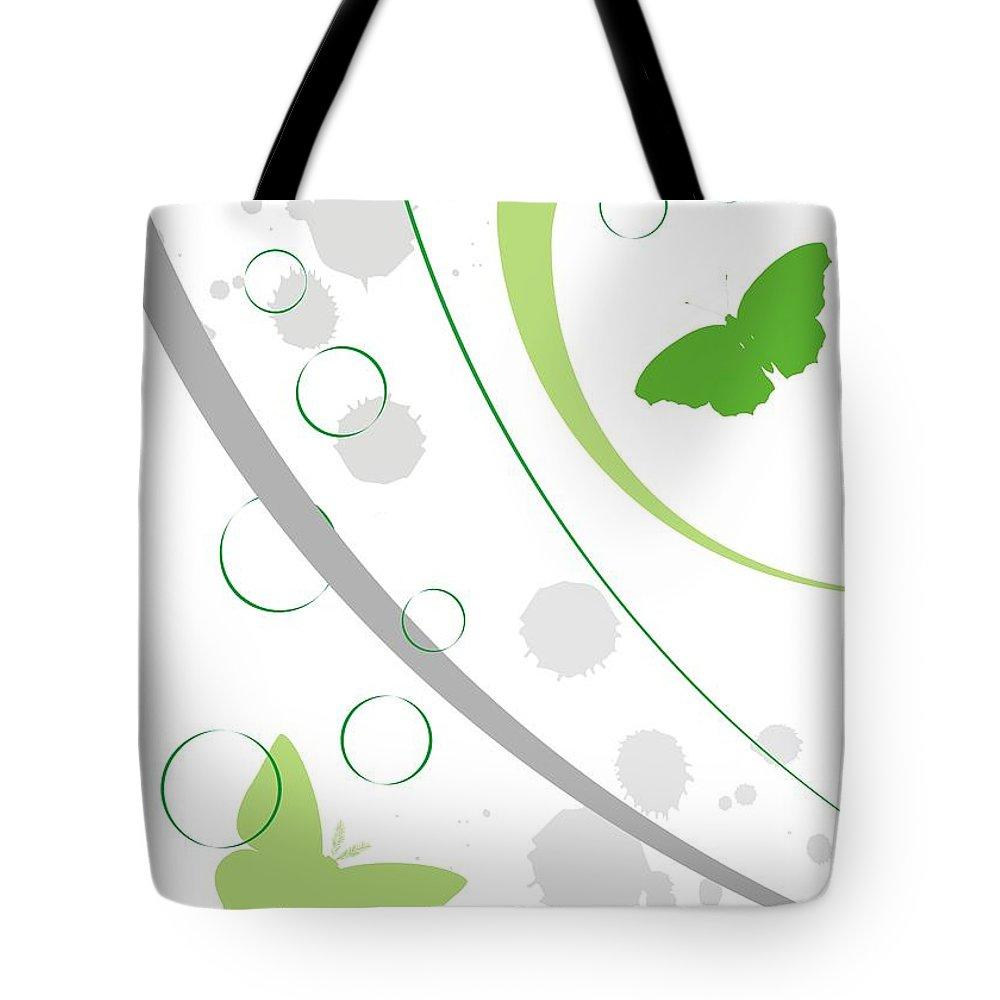 Graphics Tote Bag featuring the digital art Gv077 by Marek Lutek