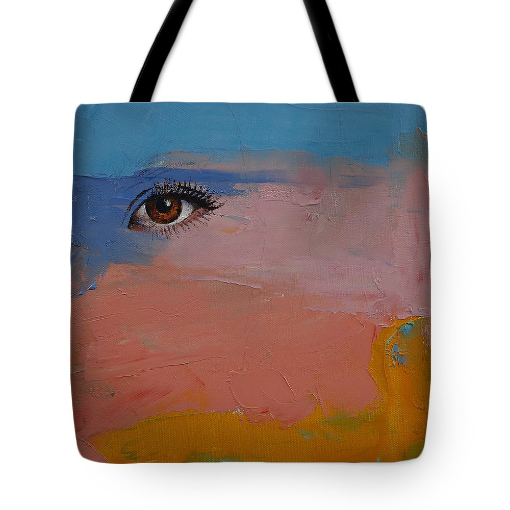 Gypsy Tote Bag featuring the painting Gypsy by Michael Creese
