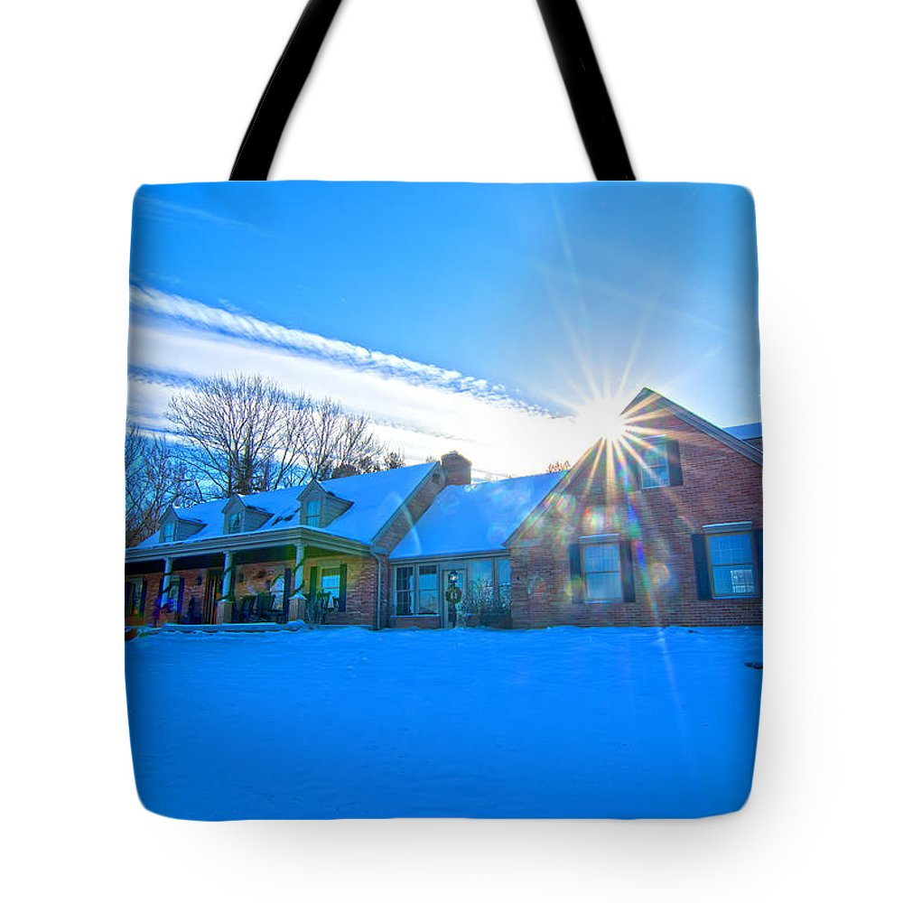 Haas Winter Shoot Dec 11 13 Tote Bag featuring the photograph Haas Winter Shoot Dec 11 13 by Randall Branham