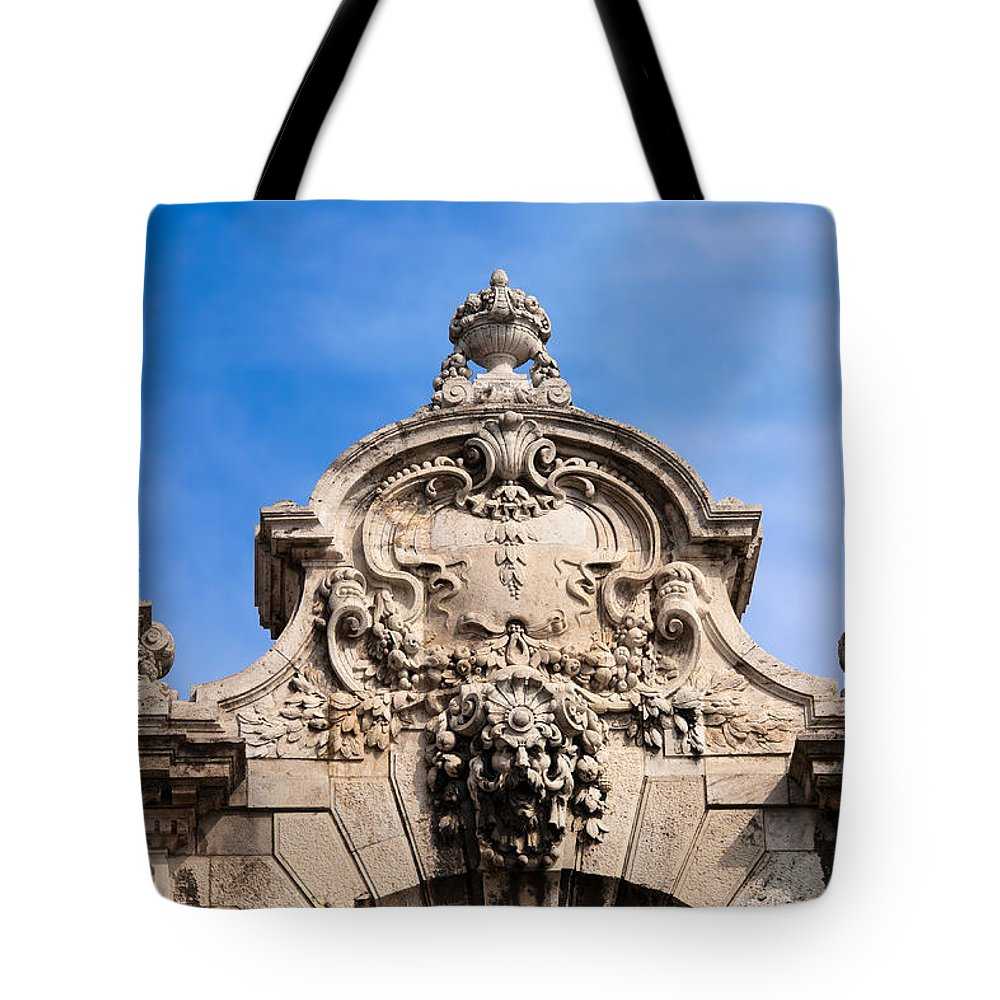 Budapest Tote Bag featuring the photograph Habsburg Gate Details In Budapest by Artur Bogacki