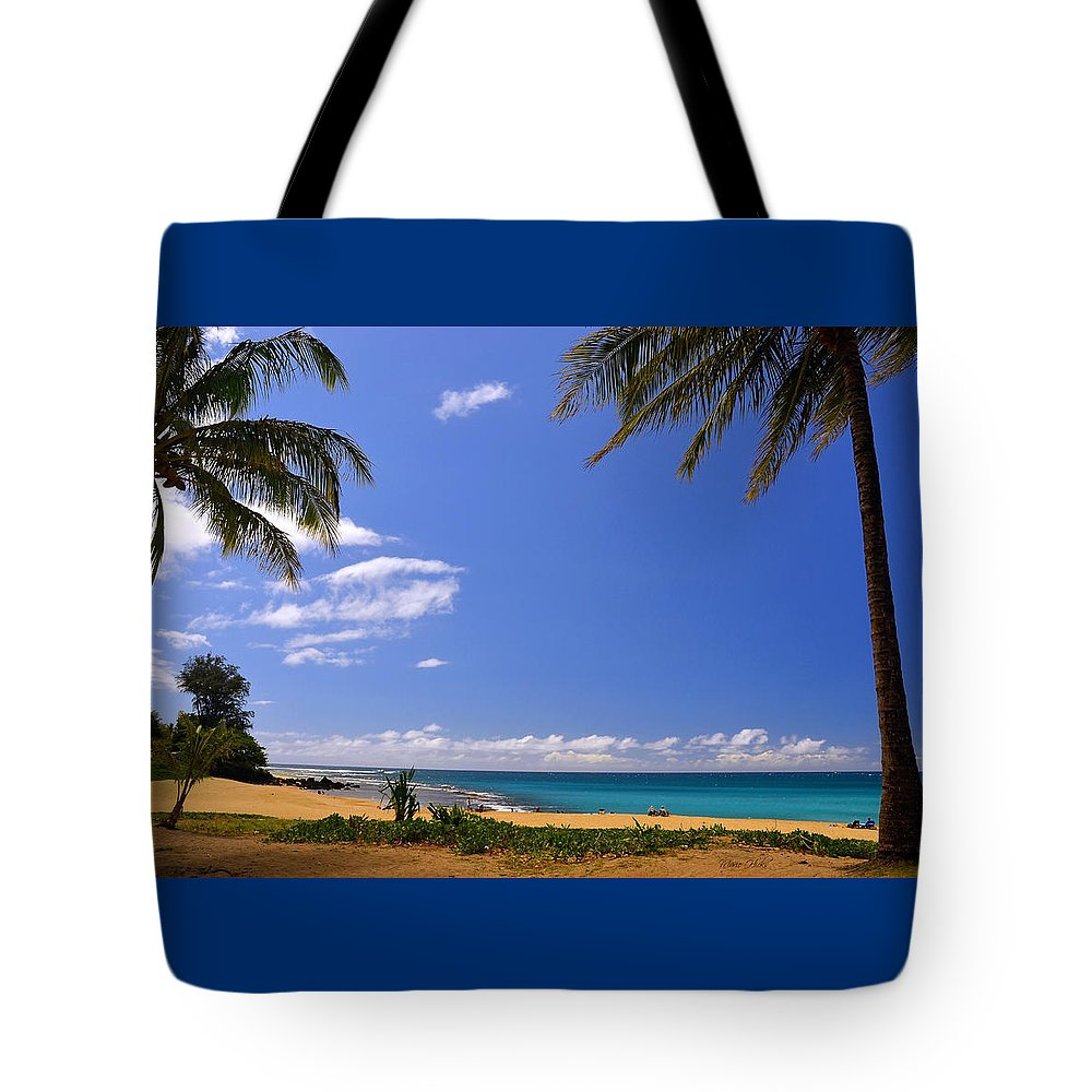 Hawaii Tote Bag featuring the photograph Haena Beach Haven by Marie Hicks
