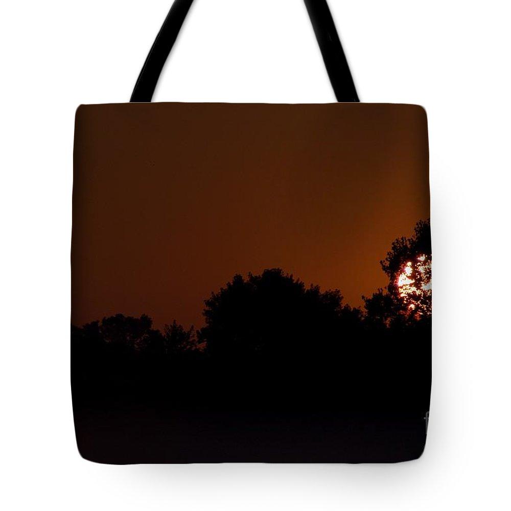 Dawn Tote Bag featuring the photograph Hagadorn Sun Three by Joseph Yarbrough