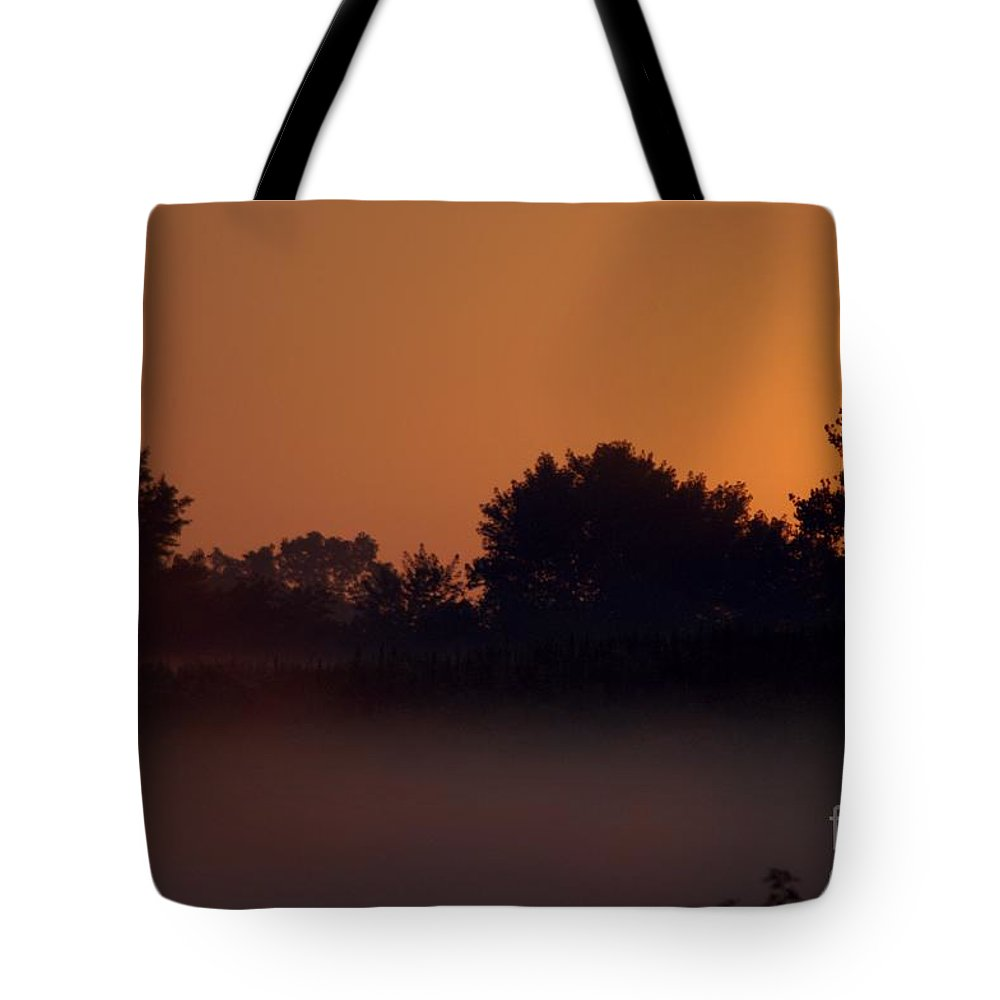 Dawn Tote Bag featuring the photograph Hagadorn Sun Two by Joseph Yarbrough