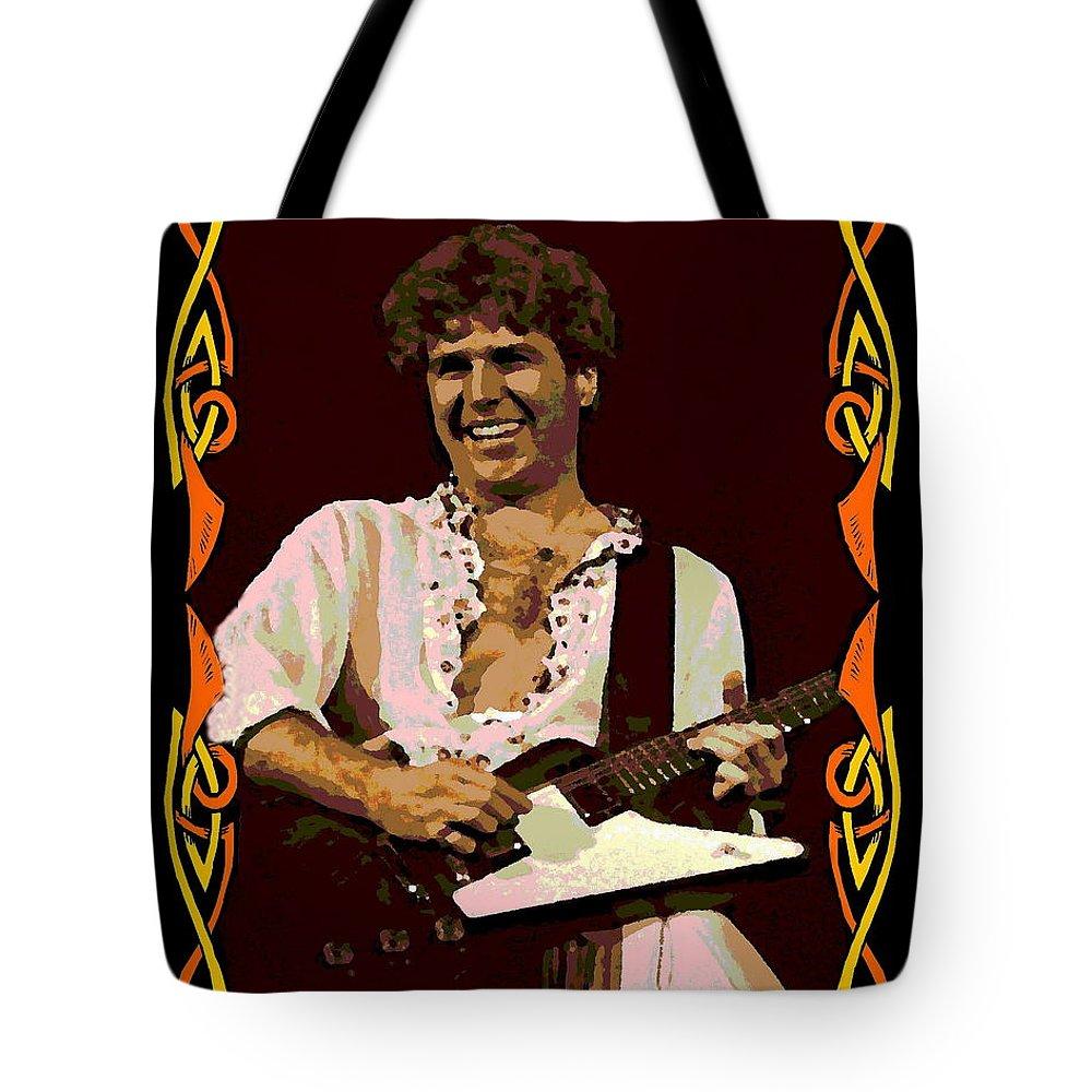 Sammy Hagar Tote Bag featuring the photograph Hagar Art 2 by Ben Upham