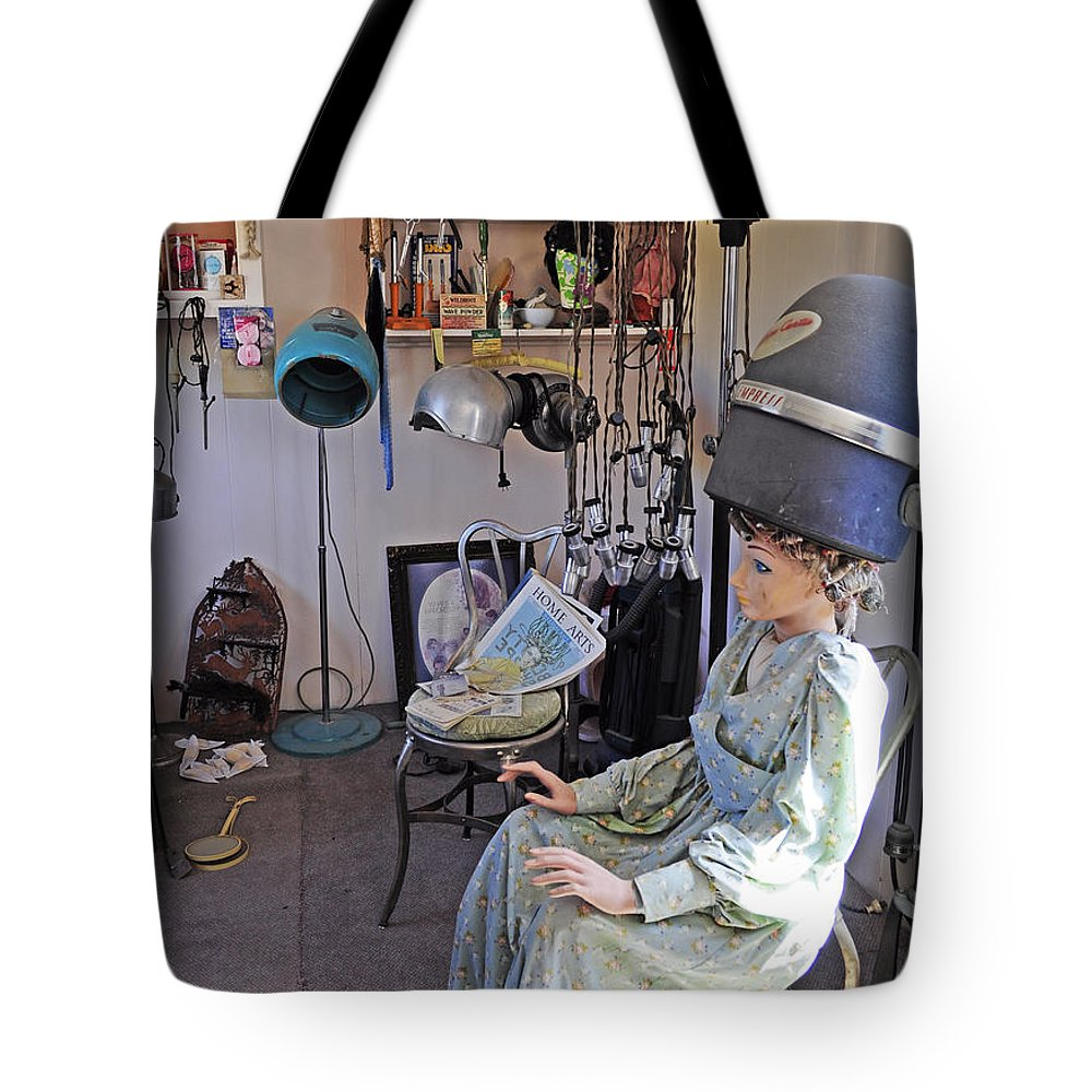 Hairdresser Tote Bag featuring the photograph Hairdresser Work by Fran Riley