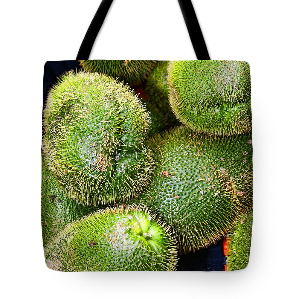 Mango Tote Bag featuring the photograph Hairy Peary Chayote Squash By Diana Sainz by Diana Raquel Sainz