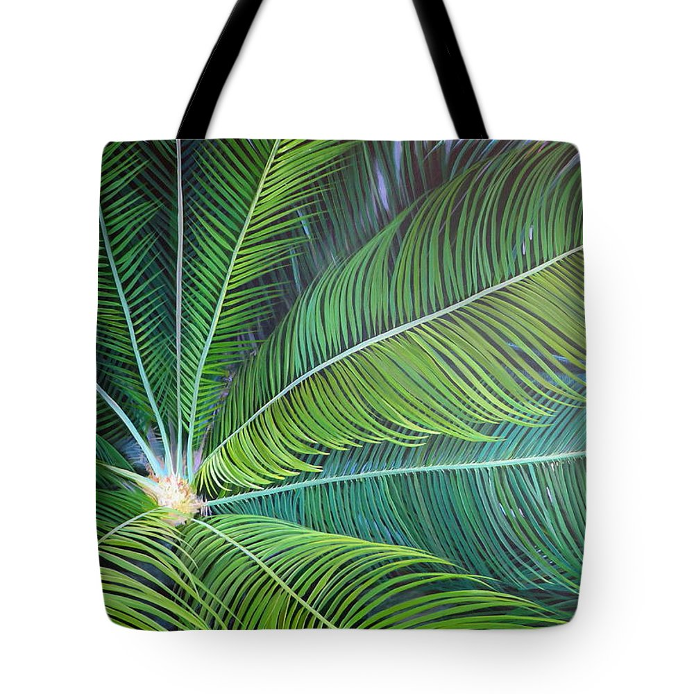 Sago Tote Bag featuring the painting Half a World Away by Hunter Jay