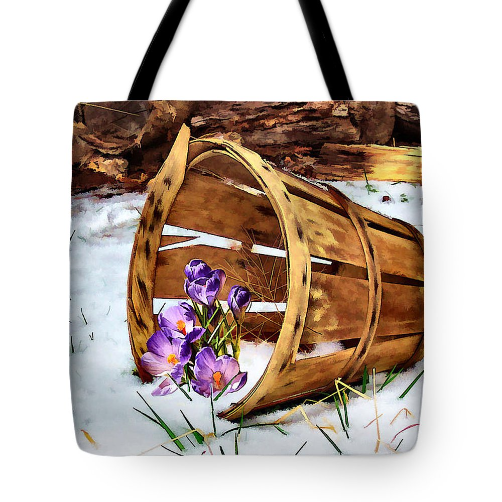 Crocus Tote Bag featuring the photograph Half Full by Nadine Lewis