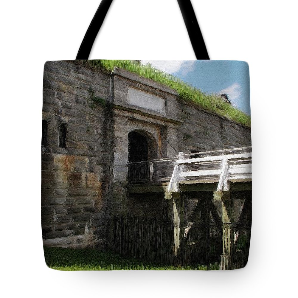 Canadian Tote Bag featuring the painting Halifax Citadel by Jeffrey Kolker