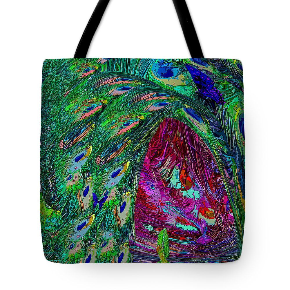 Fairy Tote Bag featuring the digital art Hall Of Fairies Feather Dance by Michele Avanti