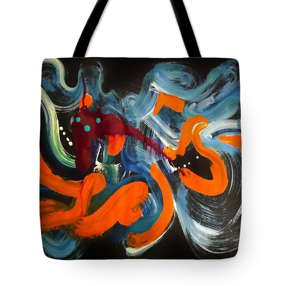 Halloween Tote Bag featuring the painting Halloween by Donna Blackhall