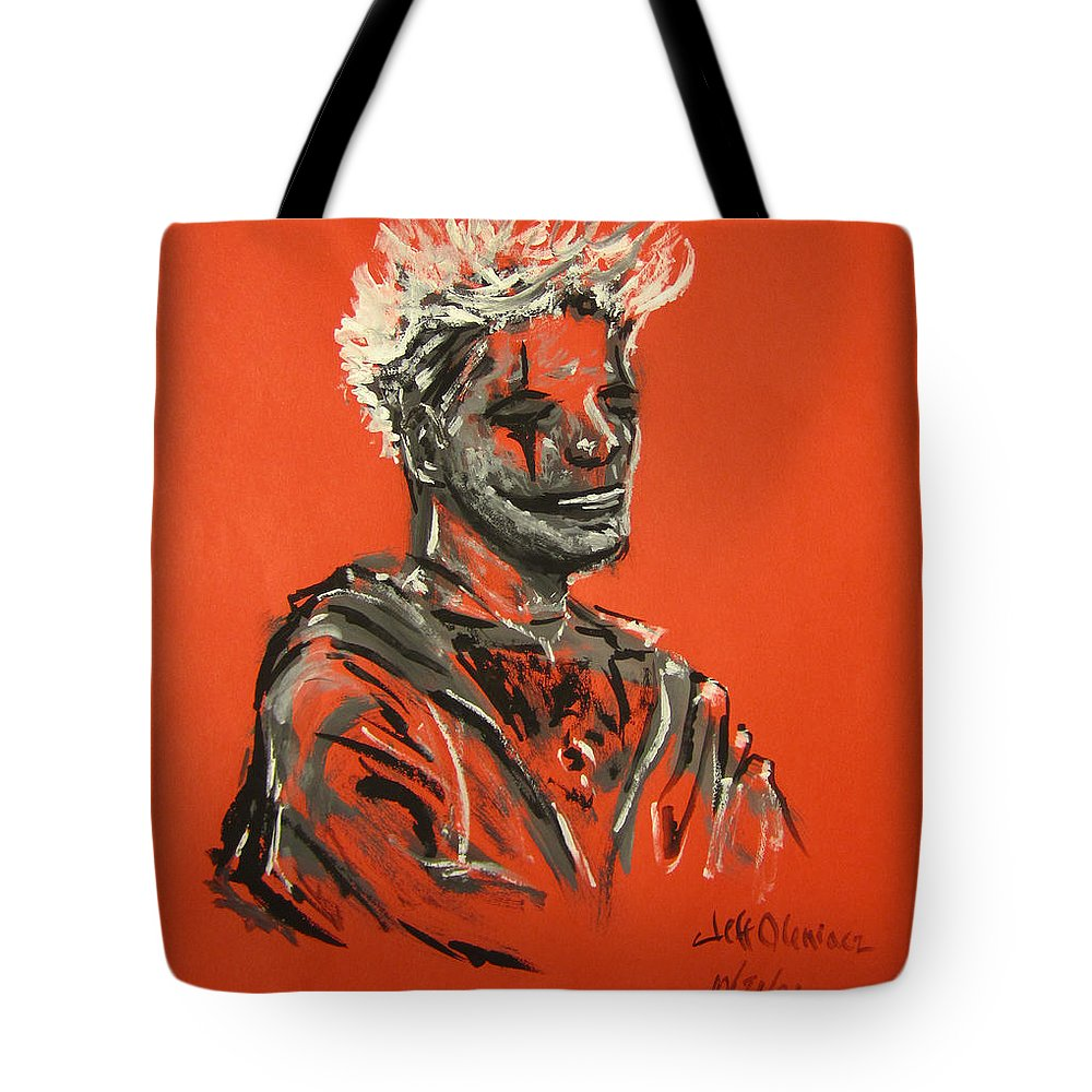 Halloween Tote Bag featuring the painting Halloween Figure by Jeffrey Oleniacz