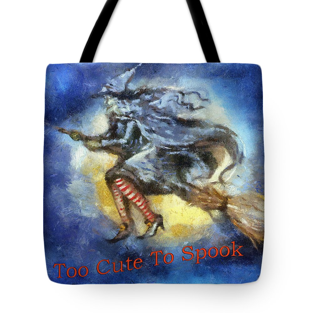 Halloween Tote Bag featuring the photograph Halloween Too Cute To Spook by Thomas Woolworth