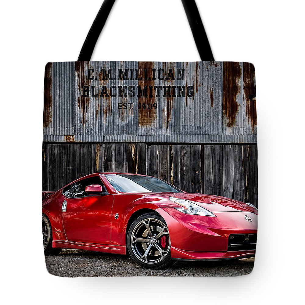 Nissan Digital Art Tote Bags