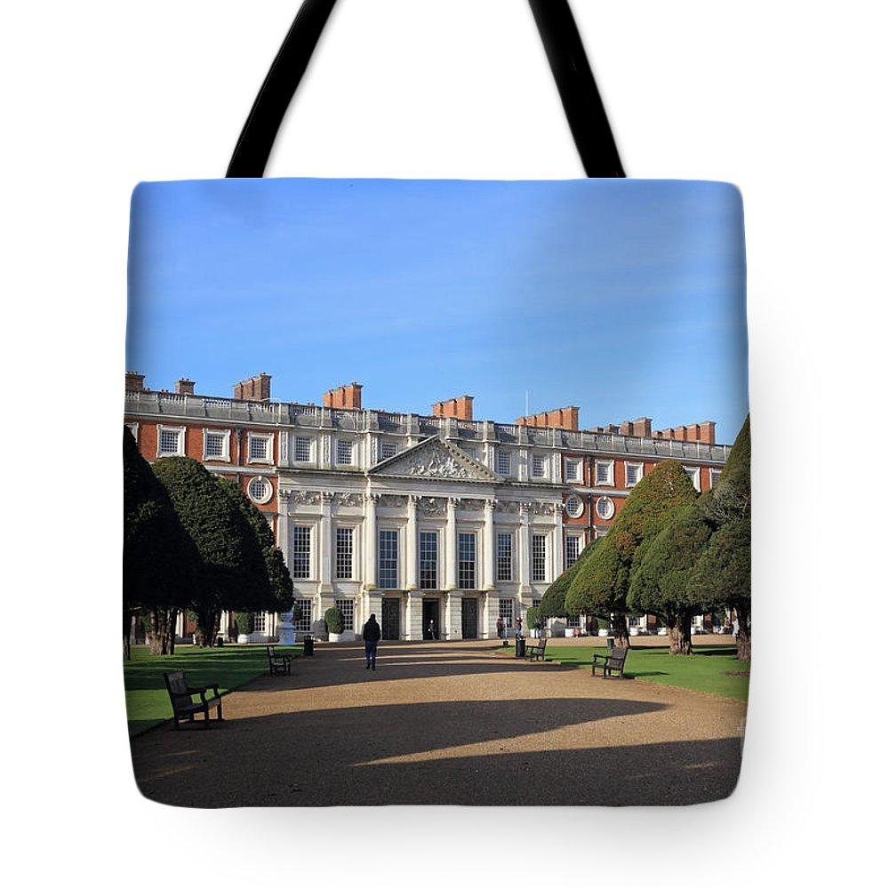 Hampton Court Palace England Tote Bag featuring the photograph Hampton Court Palace England by Julia Gavin