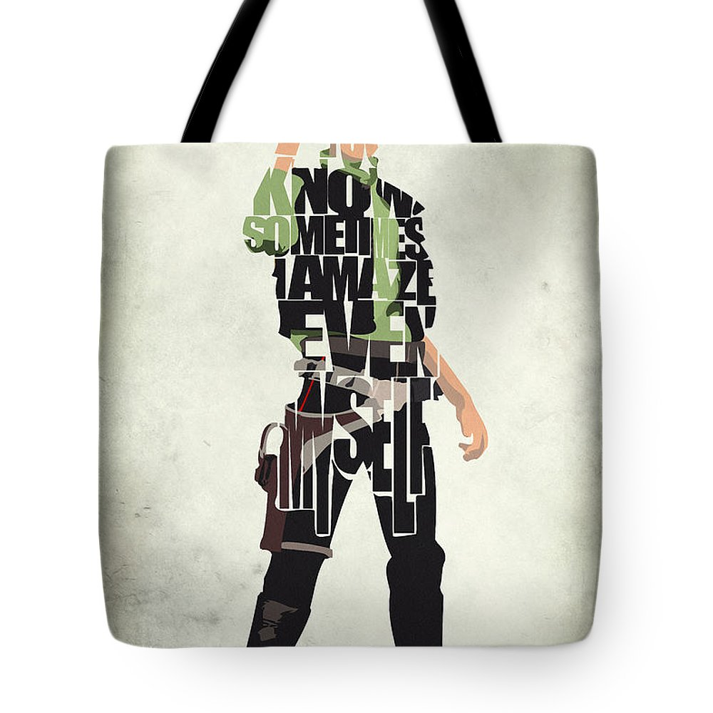 Han Solo Tote Bag featuring the painting Han Solo Vol 2 - Star Wars by Inspirowl Design