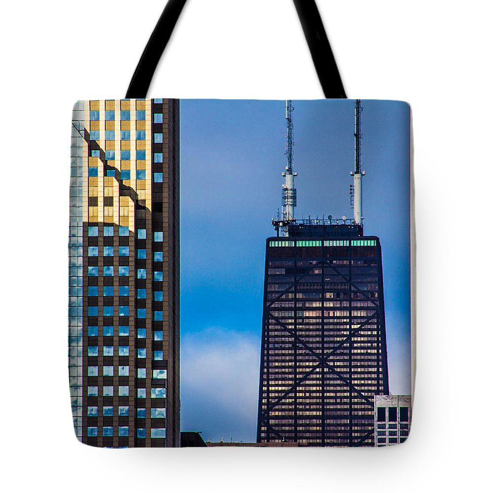Chicago Tote Bag featuring the photograph Hancock Building In Chicago by John McGraw