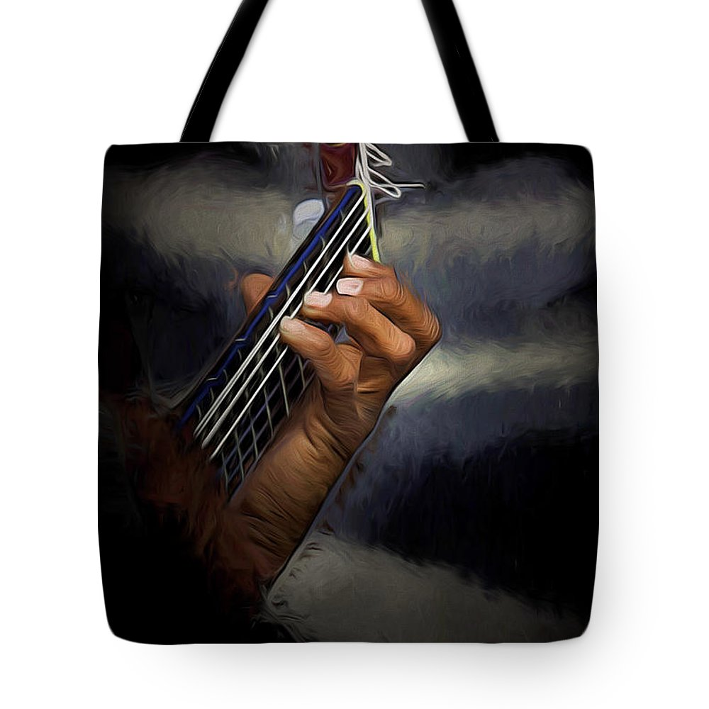 Spanish Guitar Tote Bag featuring the photograph Hand Of A Spanish Guitarist by Sheila Smart Fine Art Photography