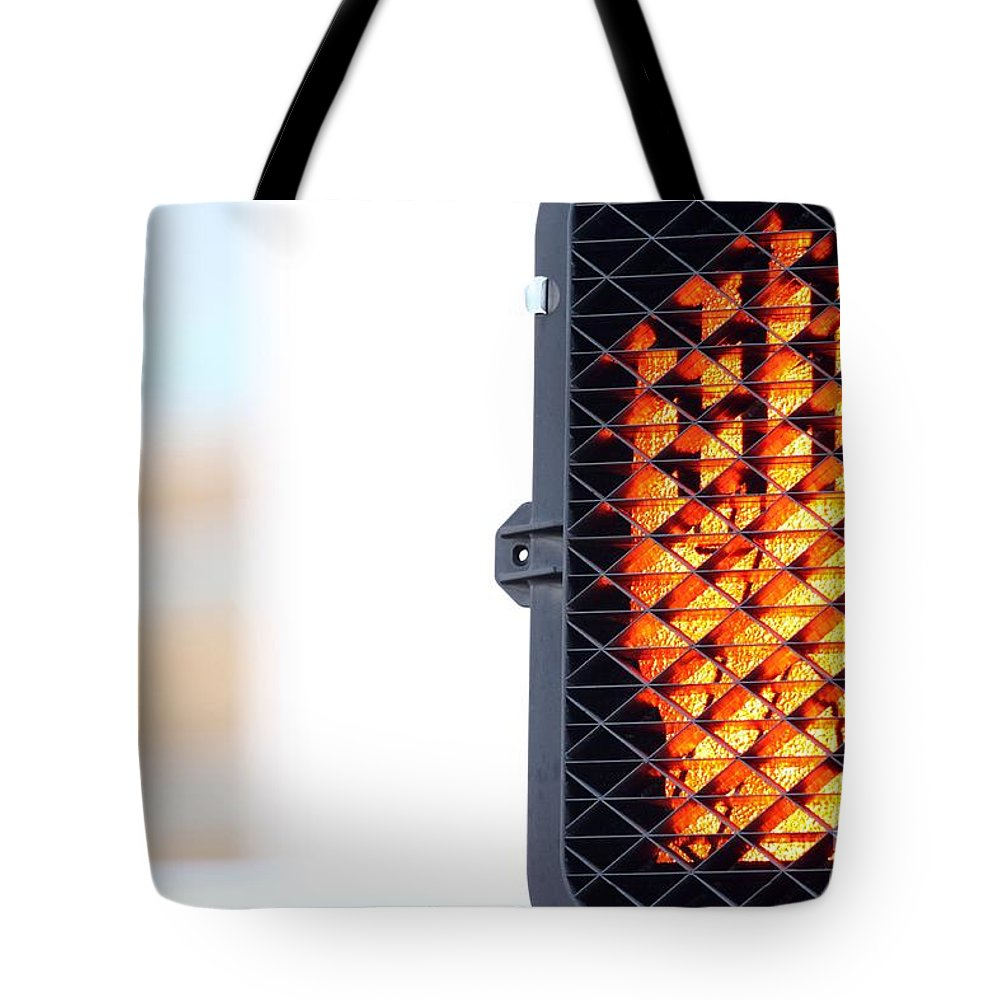 Red Tote Bag featuring the photograph Hand Stop Signal by Henrik Lehnerer