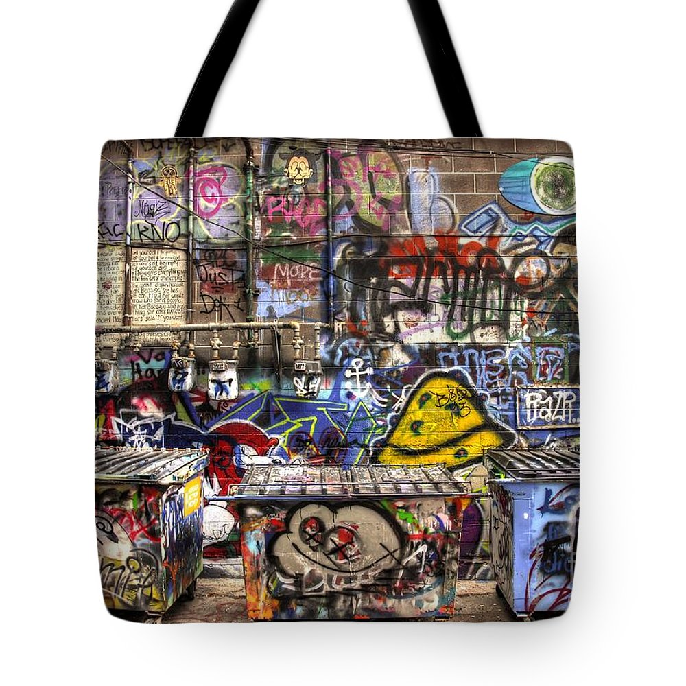 Graffiti Tote Bag featuring the photograph Handprints In Time by Anthony Wilkening