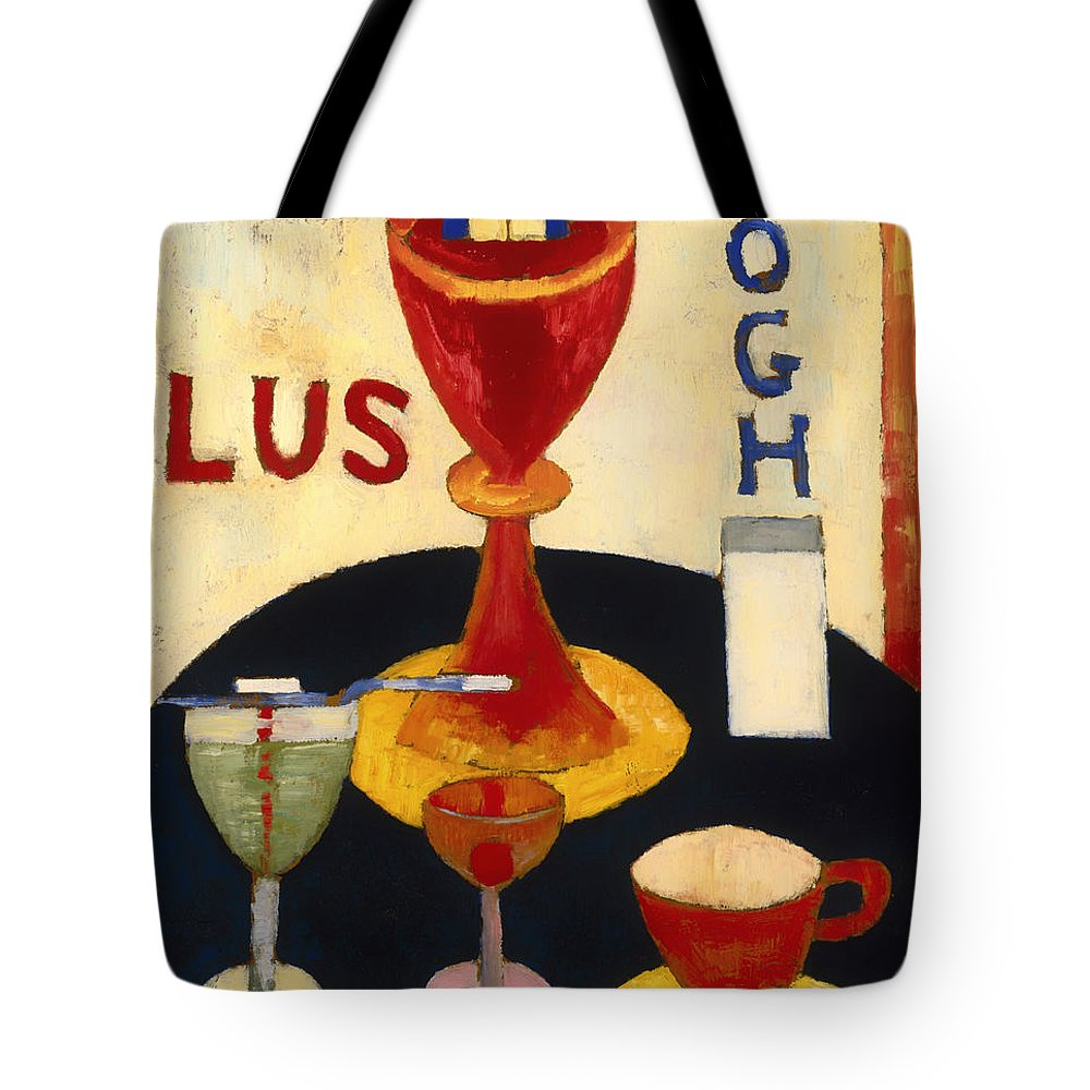 Painting Tote Bag featuring the painting Handsome Drinks by Mountain Dreams