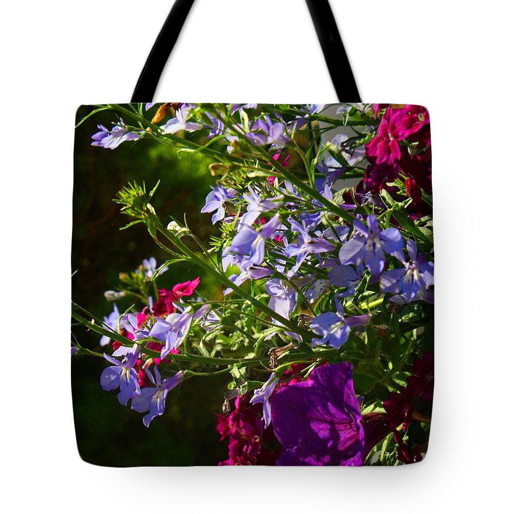 Basket Tote Bag featuring the photograph Hanging Basket by Kathryn Meyer