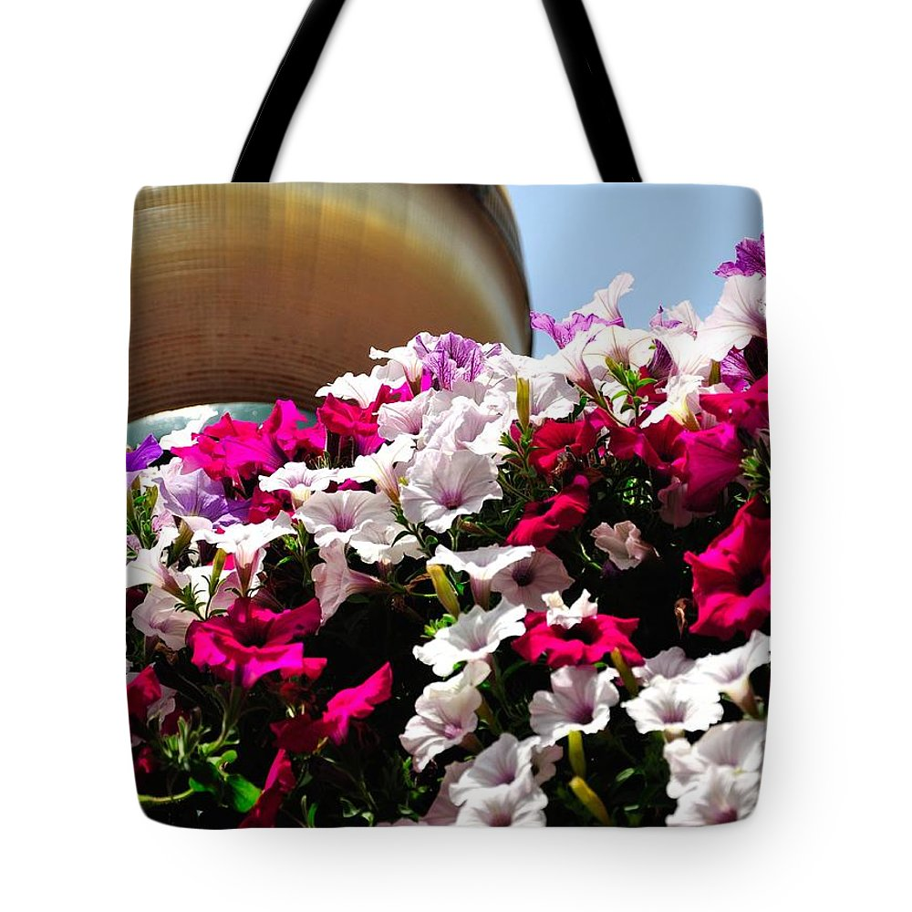 Spring Tote Bag featuring the photograph Hanging Flowers 6720 by Jerry Sodorff
