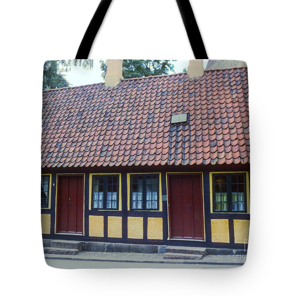 Hans Christian Anderson Childhood Home House Houses Structure Structures Building Buildings Architecture Tile Roof Tiles Odense Denmark Landmark Landmarks Tote Bag featuring the photograph Hans Christian Anderson Childhood Home by Bob Phillips