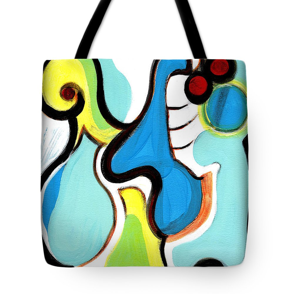 Abstract Art Tote Bag featuring the painting Happiness by Stephen Lucas