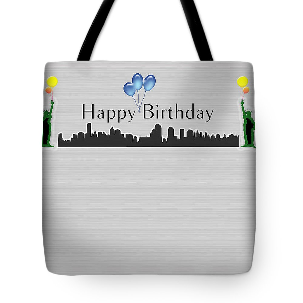 Happy Birthday Card New York City Statue Of Liberty Tote Bag