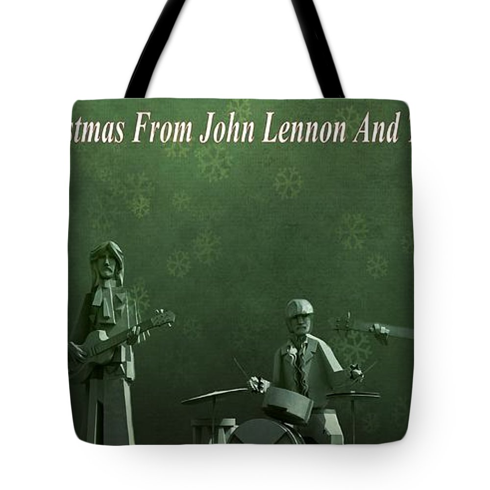 Happy Christmas From John Lennon Tote Bag featuring the photograph Happy Christmas From John Lennon by Dan Sproul
