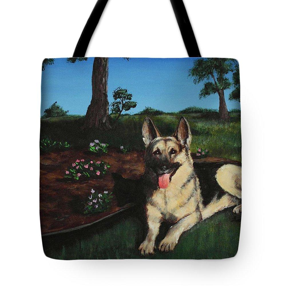 Malakhova Tote Bag featuring the painting Happy Day by Anastasiya Malakhova
