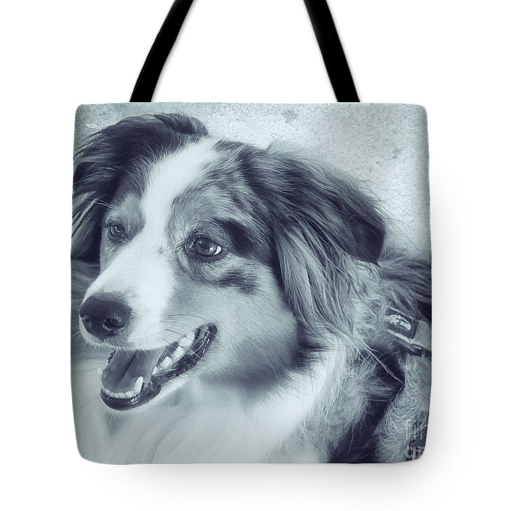 Photo Tote Bag featuring the photograph Happy Dog by Jutta Maria Pusl