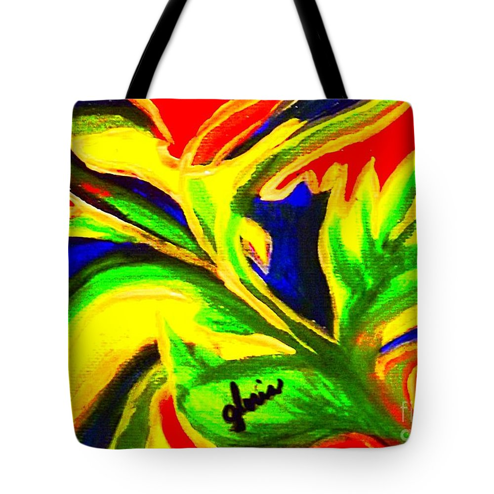 Bright Tote Bag featuring the painting Happy by Gr B