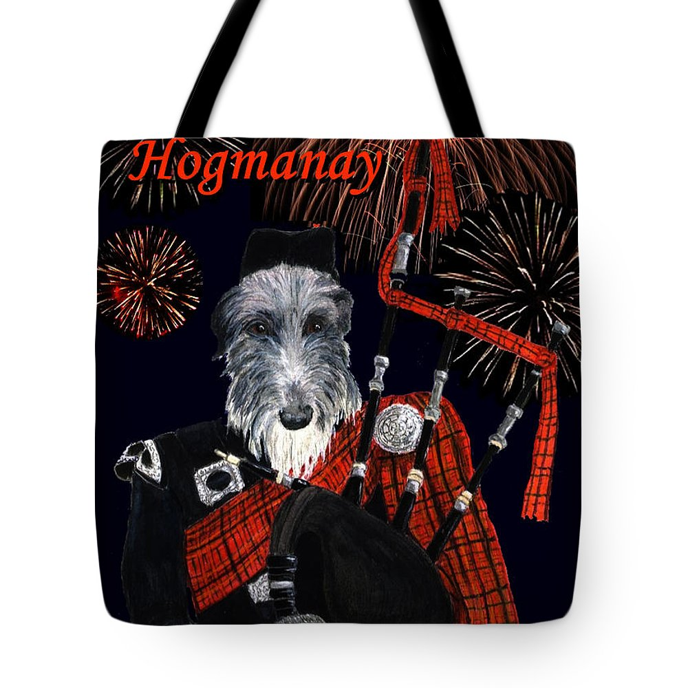 Holiday Tote Bag featuring the painting Happy Hogmanay by Stephanie Grant