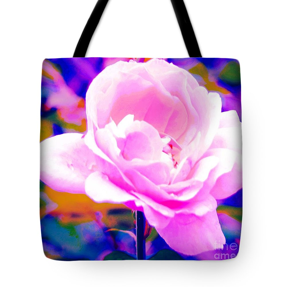 Rose Tote Bag featuring the photograph Happy Rose by Kathleen Struckle