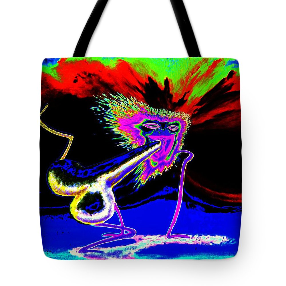 Genio Tote Bag featuring the mixed media Happy Smashers by Genio GgXpress