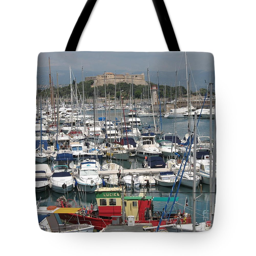 Harbor Tote Bag featuring the photograph Harbor Antibes Cote D'azur by Christiane Schulze Art And Photography