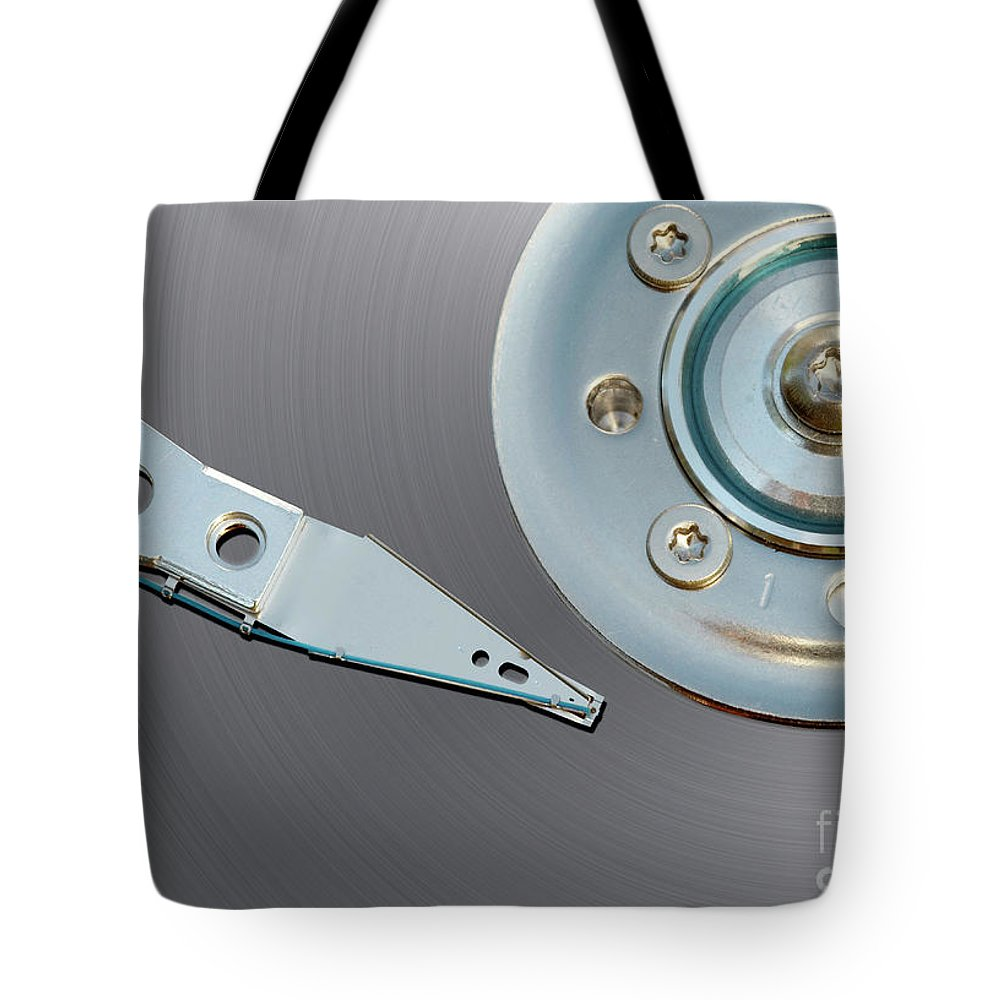 Computer Tote Bag featuring the photograph Hard Disc by Michal Boubin