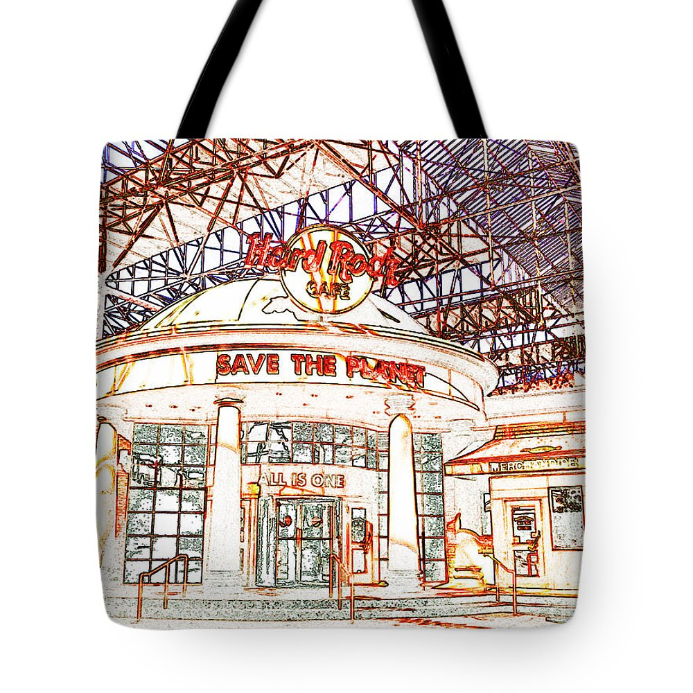 Tote Bag featuring the photograph Hard Rock Tweaked by Kelly Awad