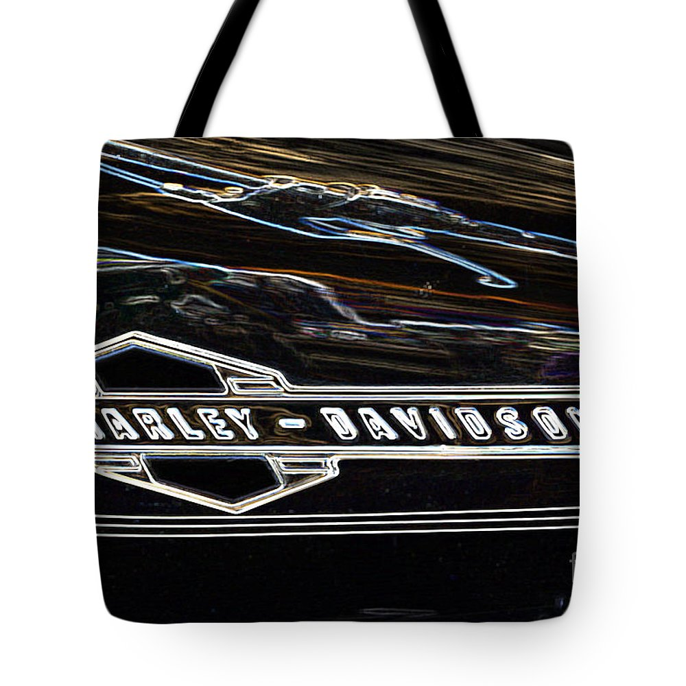 Harley Tote Bag featuring the photograph Harley Davidson 1 by Wendy Wilton