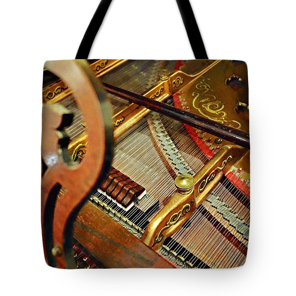 Harpsichord Tote Bag featuring the photograph Harpsichord by Joan Reese