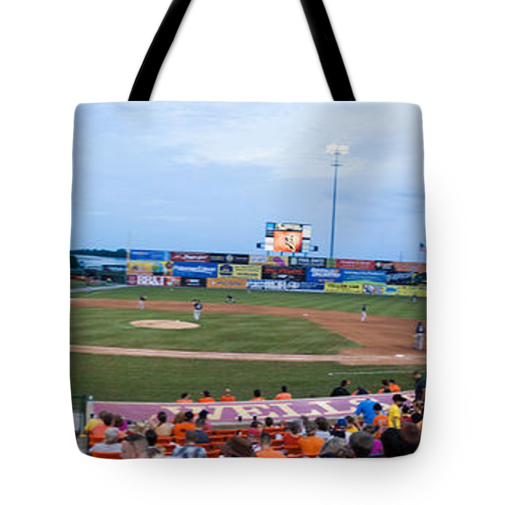 Baseball Tote Bag featuring the photograph Harry Grove Stadium Frederick Keys by Thomas Marchessault