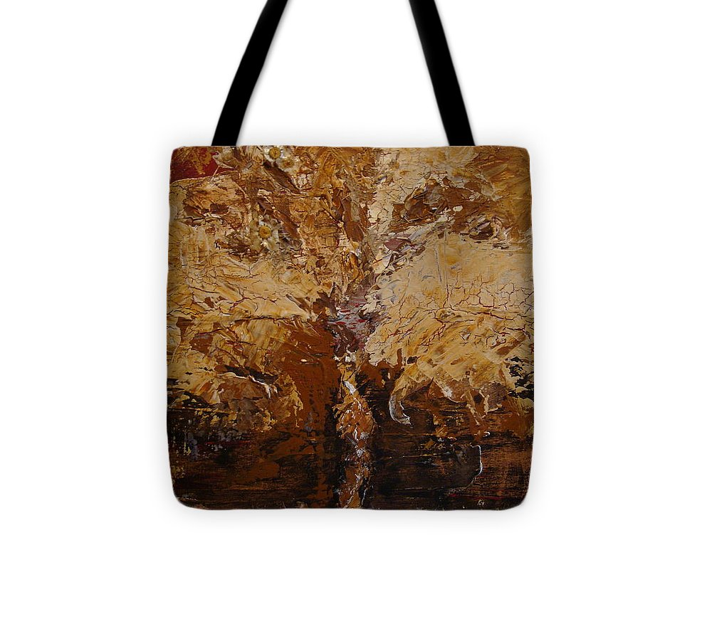 Tree Tote Bag featuring the painting Harvest by Holly Picano
