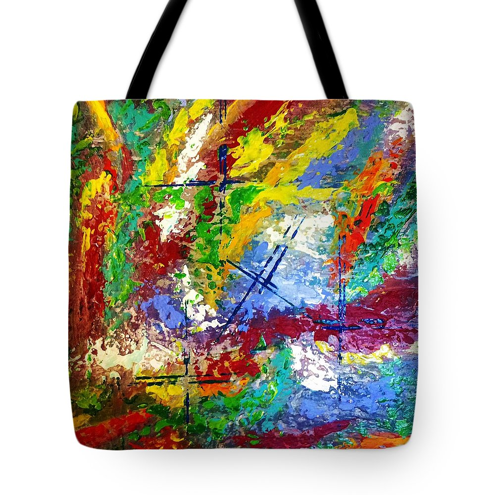Small Tote Bag featuring the painting #hashtag by Thomas Chasm